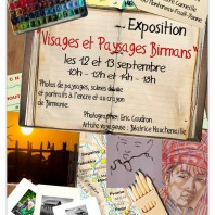Exposition «Paysages et visages Birmans»   E. Caudron & B. Hauchemaille